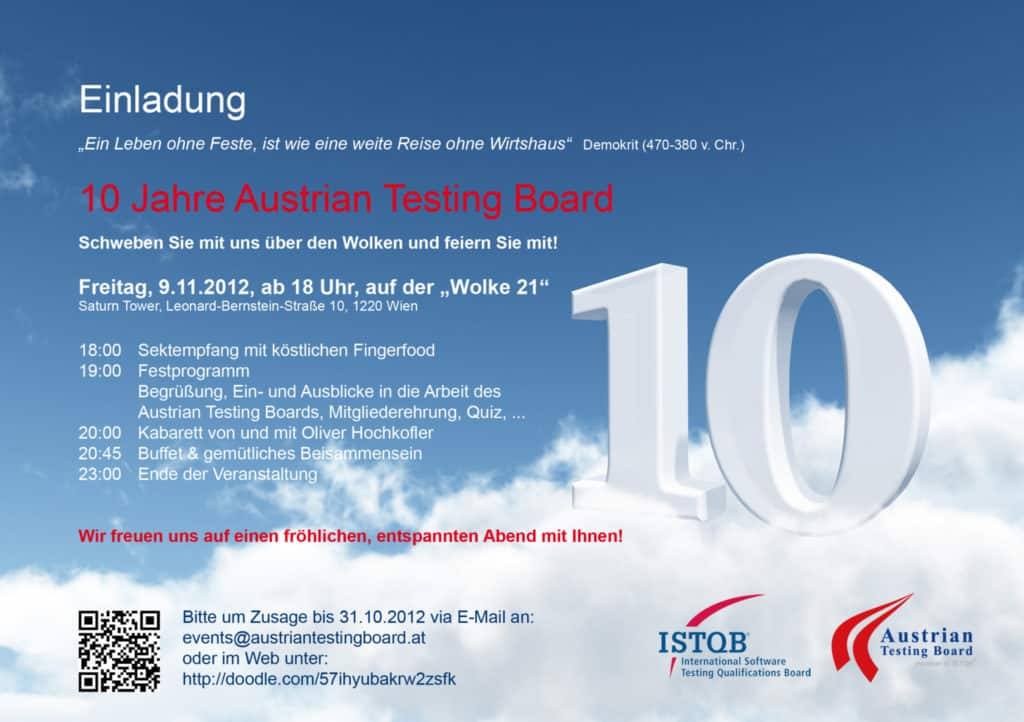 ATB 10Jahresfeier Einladung